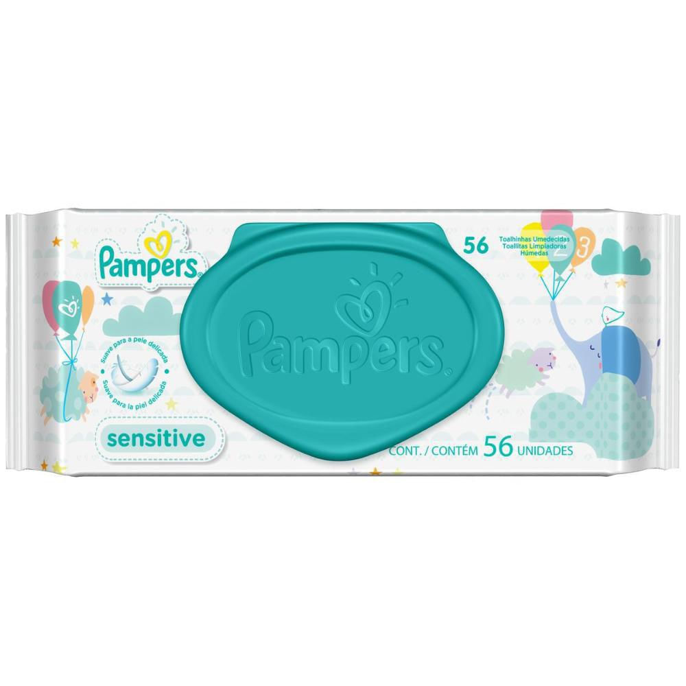 Kit 12 Toalhas Umedecidas Pampers Sensitive C/ 56 Unidades