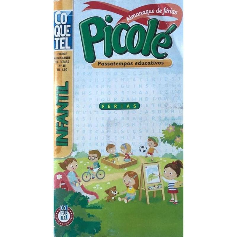 Livro Almanaque De Ferias Picolé - Passatempos Educativos