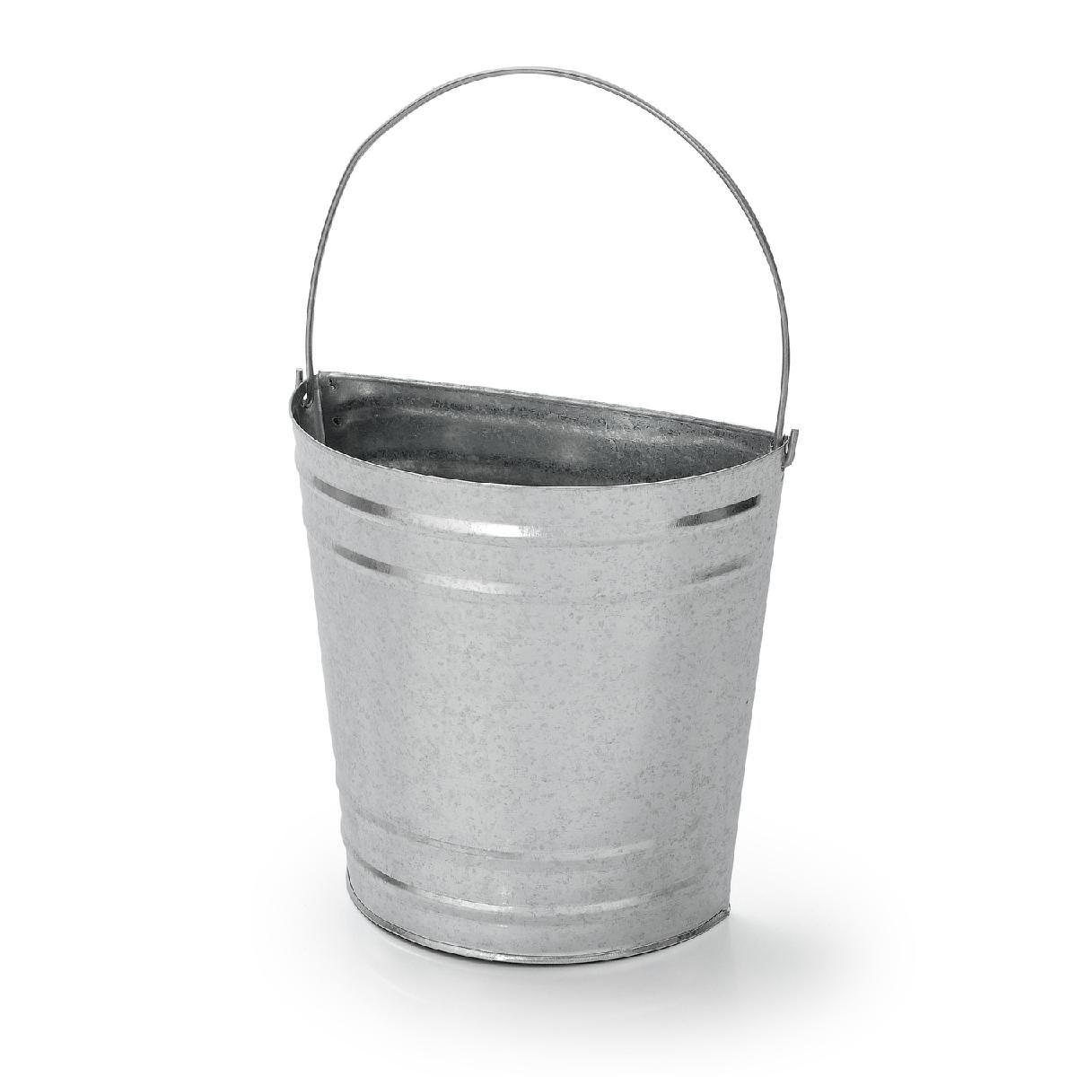 Floreira Vaso De Parede Em Metal Galvanizado 19,5 Cm