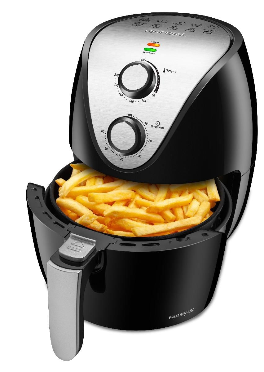 Fritadeira Sem Óleo Air Fryer Mondial Family, Controle Temperatura, 1500W, 3,5L, Preta - AF-30i