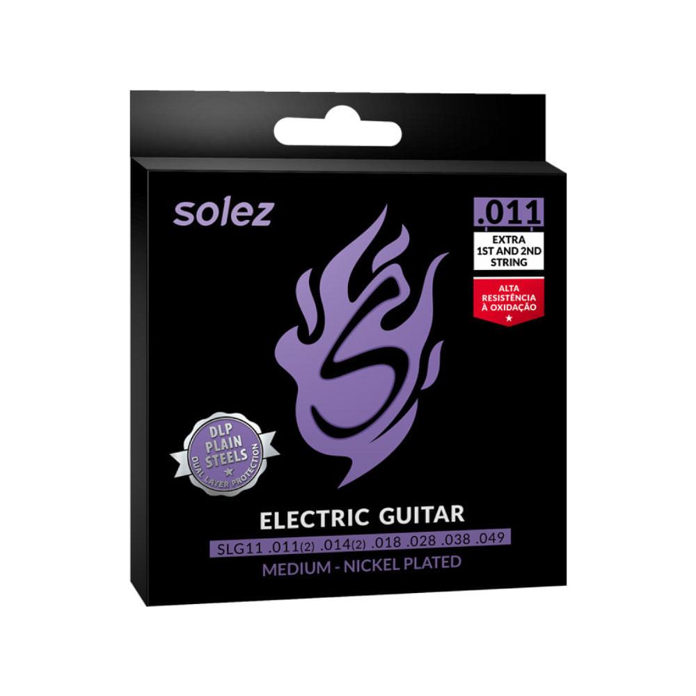 Encordoamento Solez P/Guitarra Dlp Calibre 0.011 Slg11