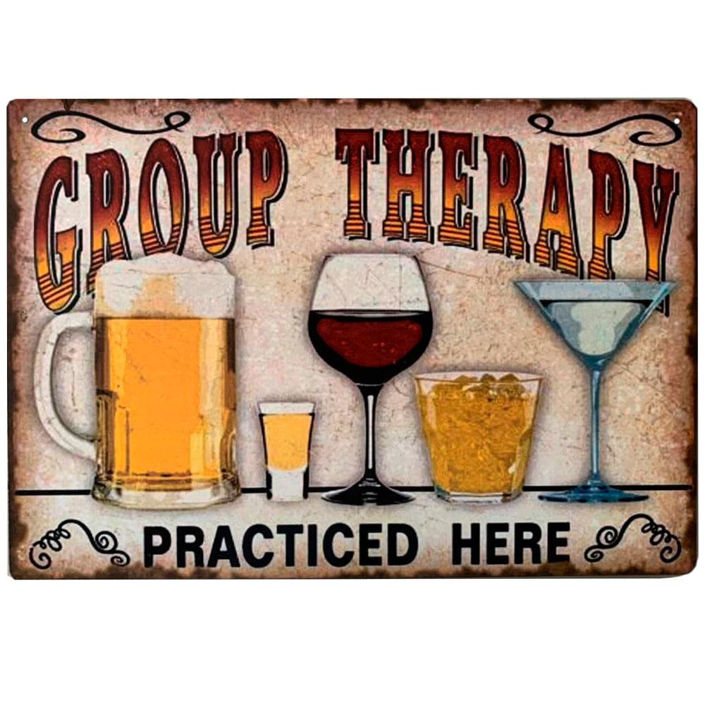 Placa Decorativa Mdf Group Terapy