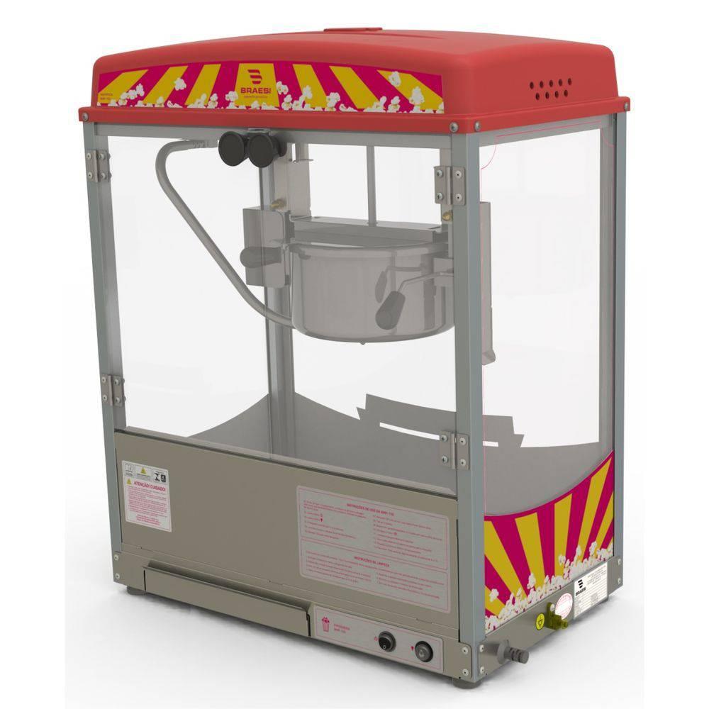Máquina Pipoqueira Elétrica Braesi Em Aço Inox 127V Bmp-150