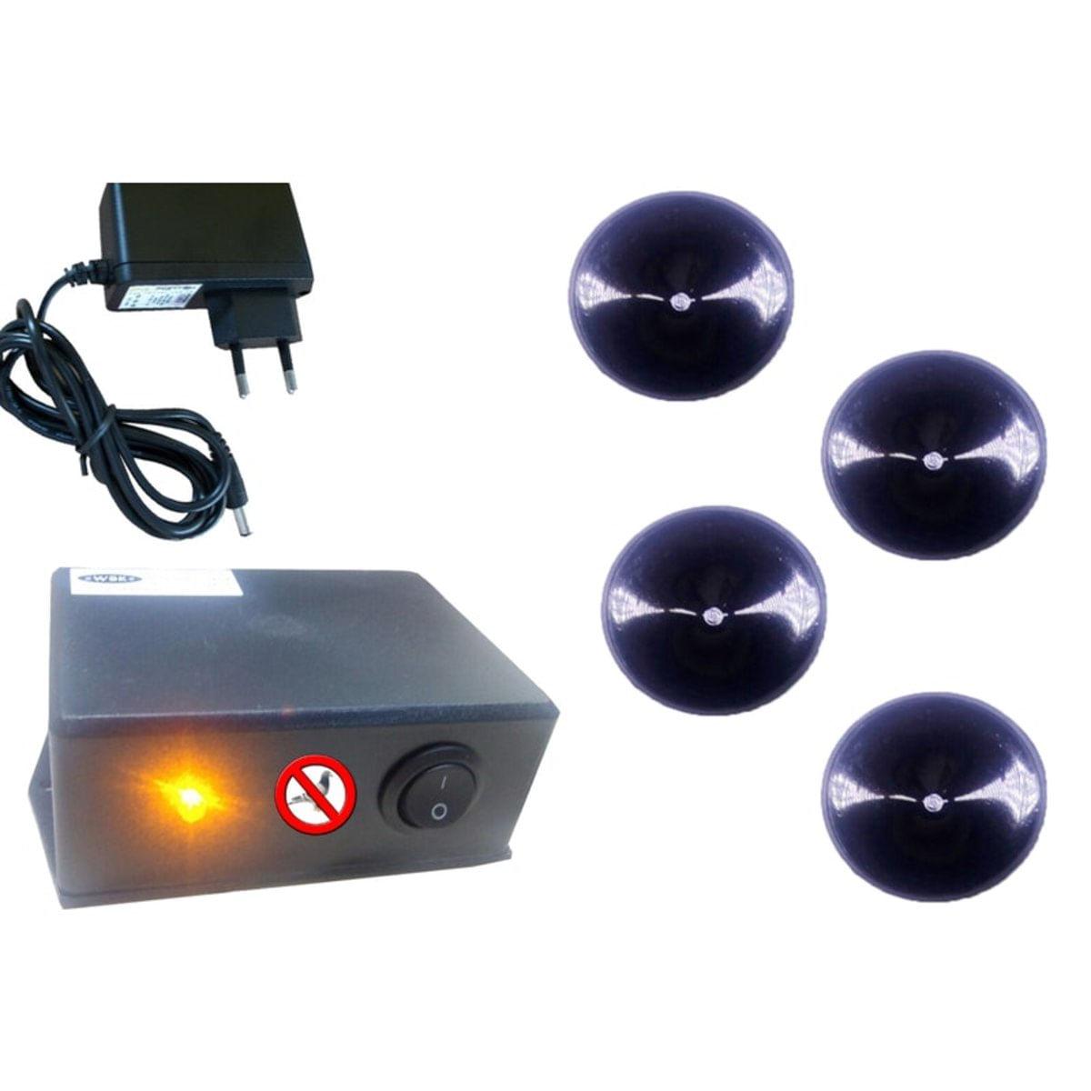 Repelente Eletrônico Espanta Pombos E Aves 4 Emissores 800M2