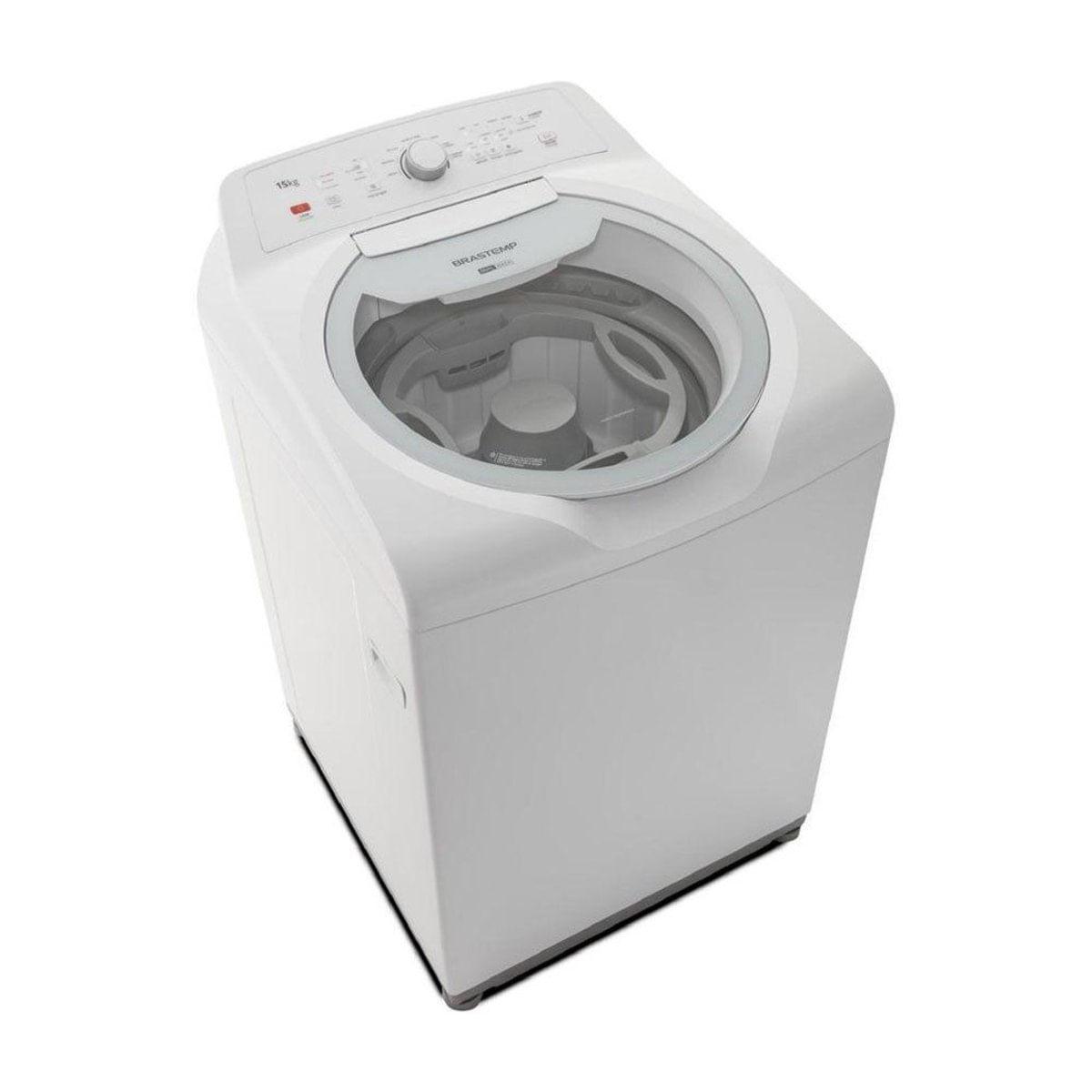Lavadora Brastemp BWD15ABANA Double Wash 15kg Branco