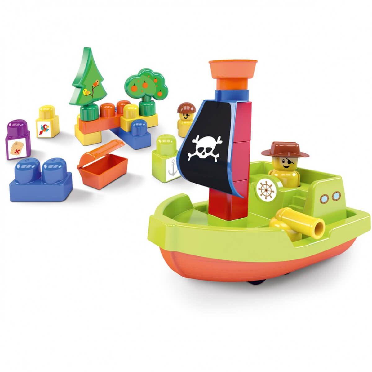 Brinquedos Educativos De Montar Para Crianças Ilha Do Pirata