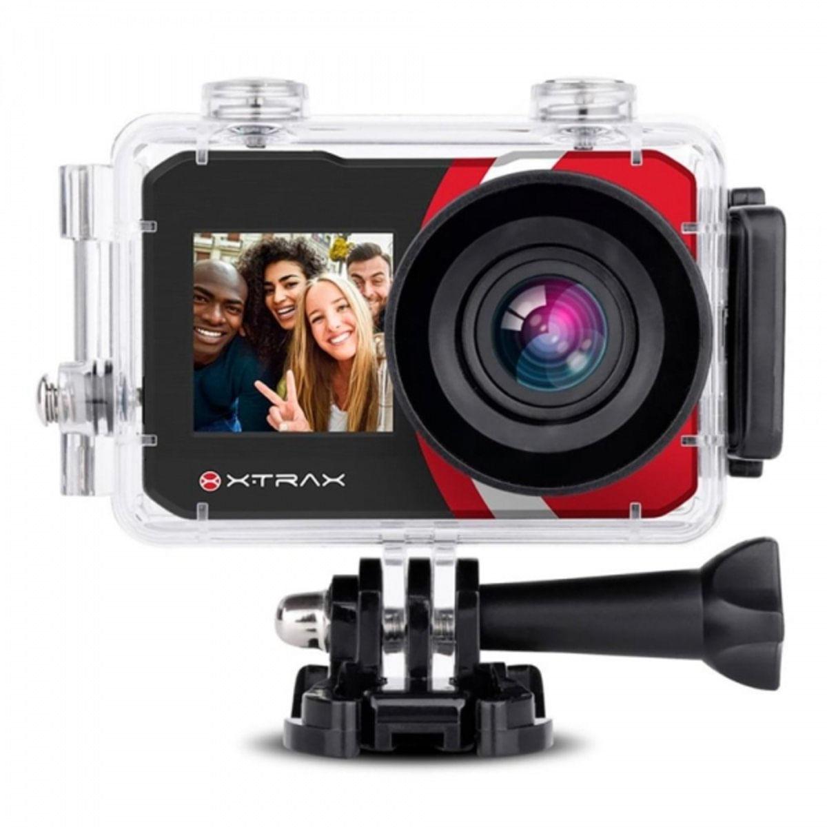 Câmera Digital E Filmadora Selfie 4K 16Mp Preta - Xtrax