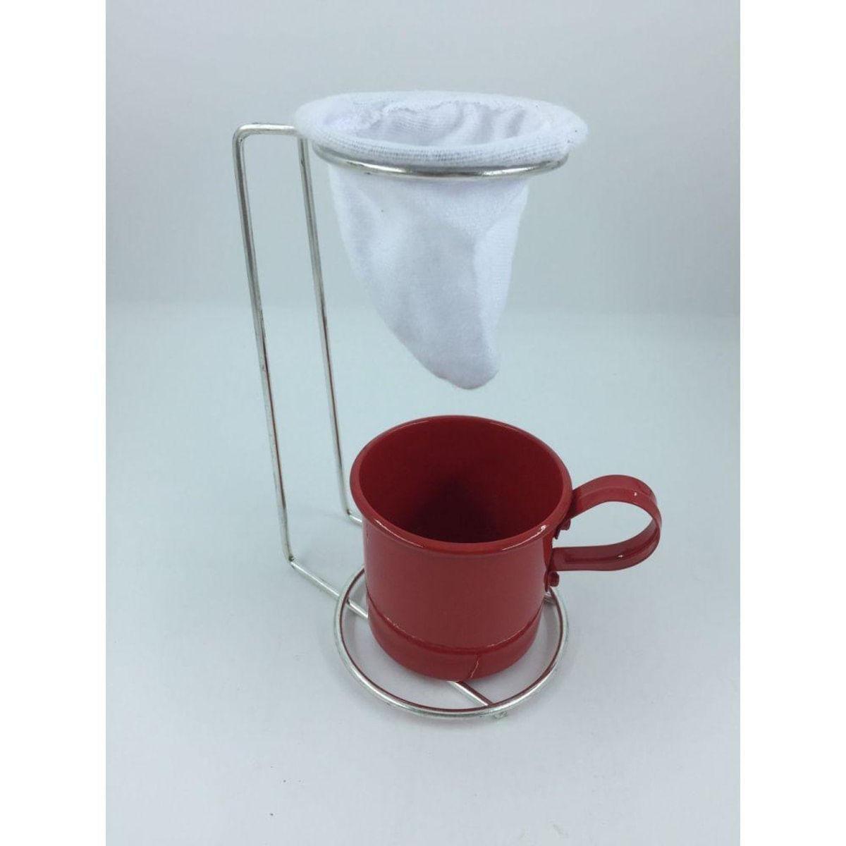 Kit Coador De Café Egoista Mais Caneca Vermelha